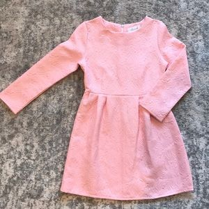 Mini Pink Appliqué Dress